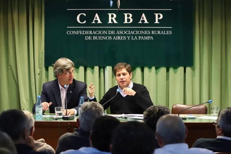 """Kicillof lanzó un guiño impositivo para el campo y Vidal le prometió """"crecimiento"""""""