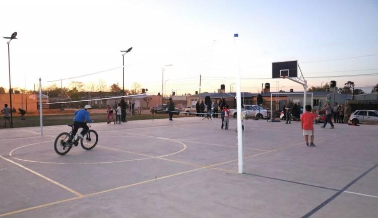 El Barrio Güemes mejora su calidad de vida con un hermoso playón polideportivo