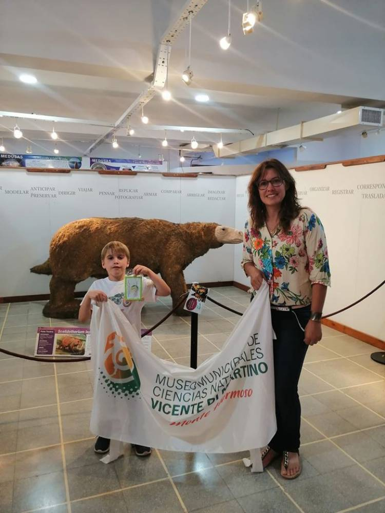 Virginia Schamberger y Ciro Ruiz Díaz vivieron un increíble hallazgo en Monte Hermoso