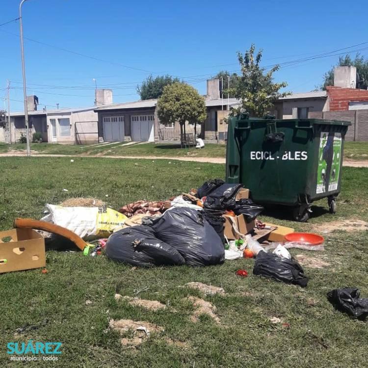 Se cobrarán multas a los vecinos y vecinas que arrojen residuos en la vía pública