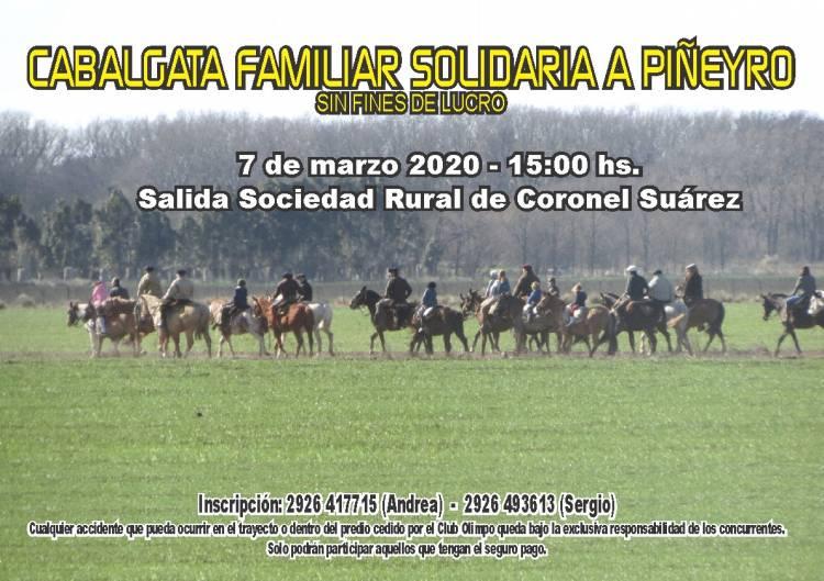 Cabalgata familiar solidaria a Piñeyro