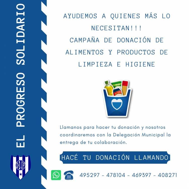 #ELPROGRESOSOLIDARIO. ¡Ayudemos a quienes más lo necesitan!