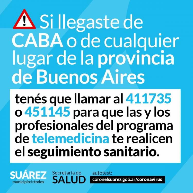 Si llegaste de CABA o de cualquier lugar de la provincia de Buenos Aires