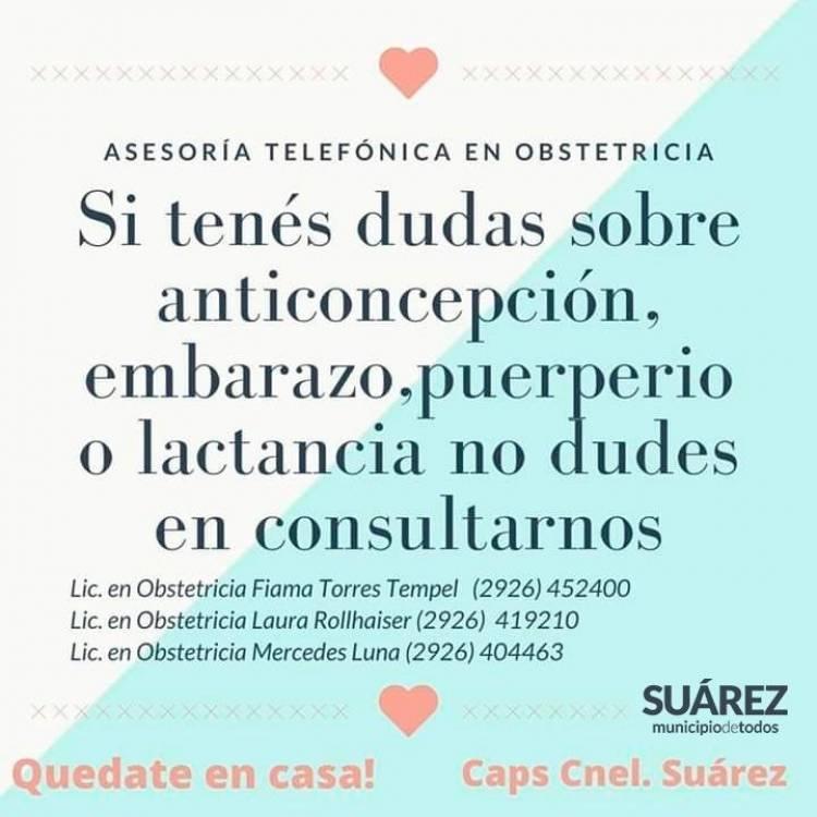 Asesoría telefónica en Obstetricia: La población se interesa y consulta