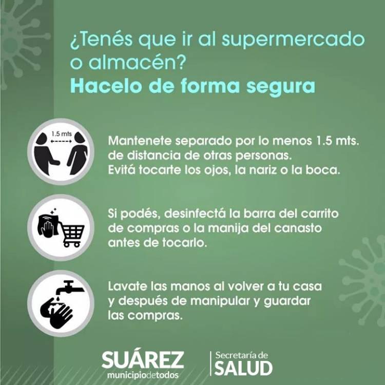 ¿Tenés que ir al supermercado o almacén? Hacelo de forma segura siguiendo estos consejos