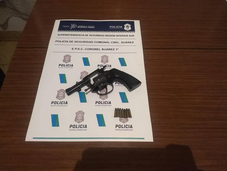 Secuestro de arma de fuego, tras una denuncia de amenazas calificadas