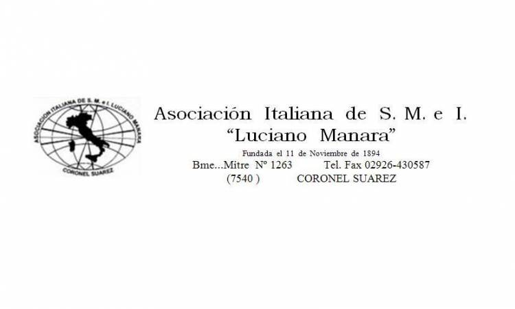 "Asamblea General Ordinaria Asociación Italiana de Socorros Mutuos ""Luciano Manara"""
