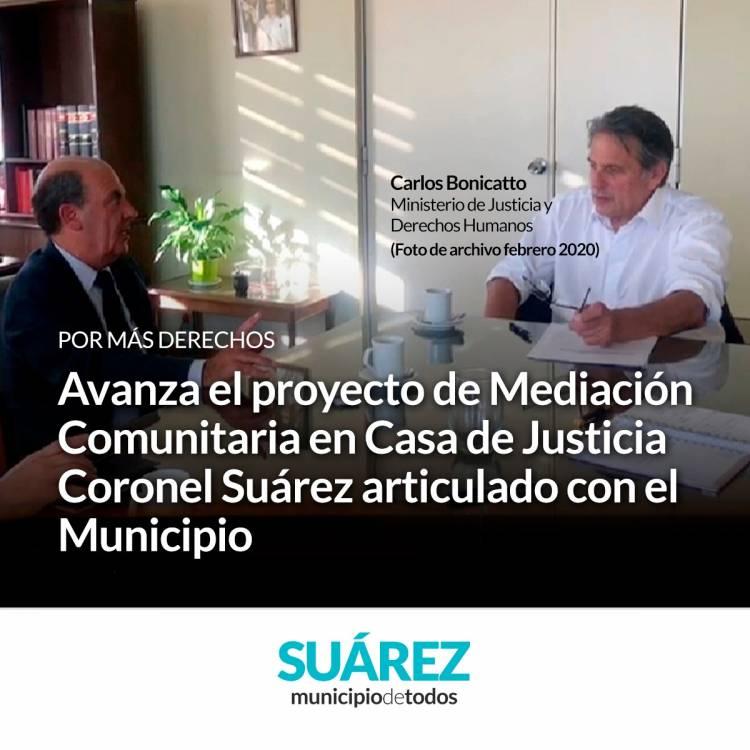Avanza el proyecto de Mediación Comunitaria en Casa de Justicia Coronel Suárez articulado con el Municipio