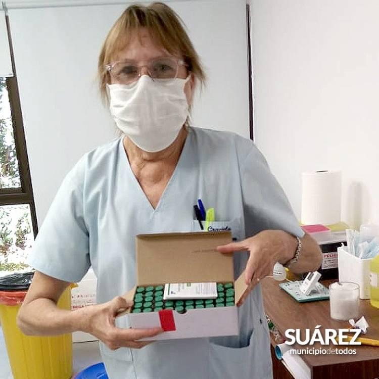 Vacunate Suárez: Llegaron 500 dosis de la vacuna AstraZeneca para personal de salud