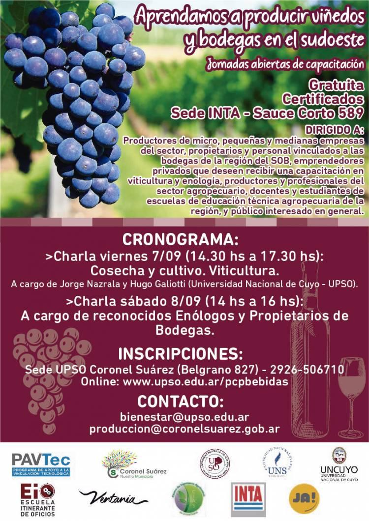 Jornadas abiertas de Capacitación sobre Vitivinicultura en INTA Coronel Suárez