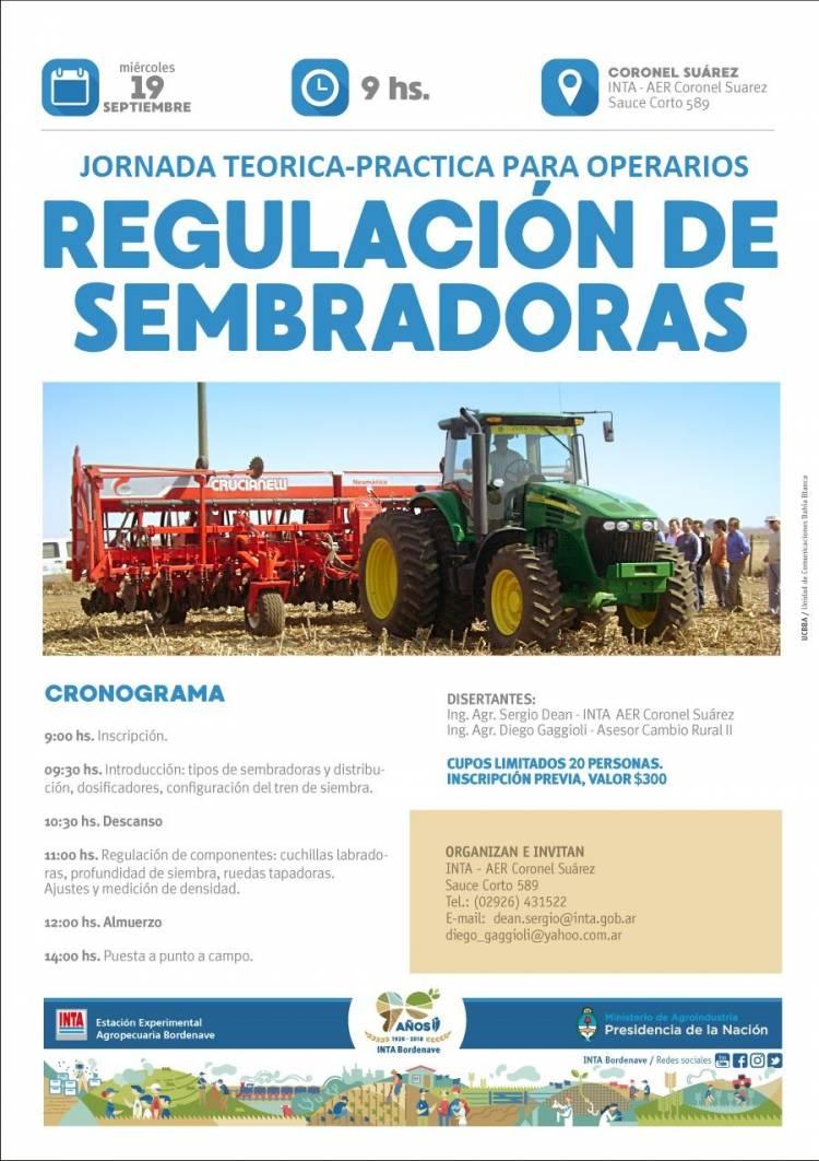Jornada teórica-práctica de regulación de sembradoras para operarios de campo