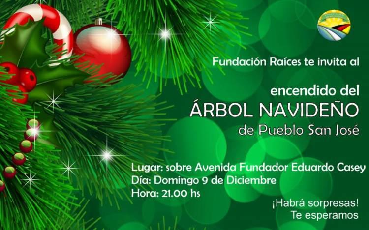 Encendido del árbol navideño de Pueblo San José