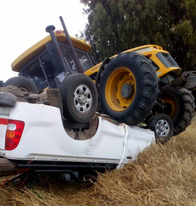 Accidente en la zona rural