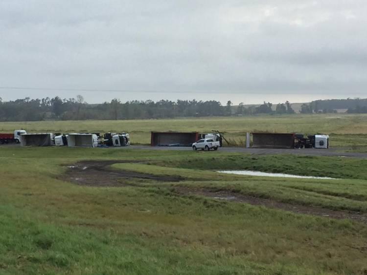 Un tornado provoco grandes destrozos sobre la Ruta 3