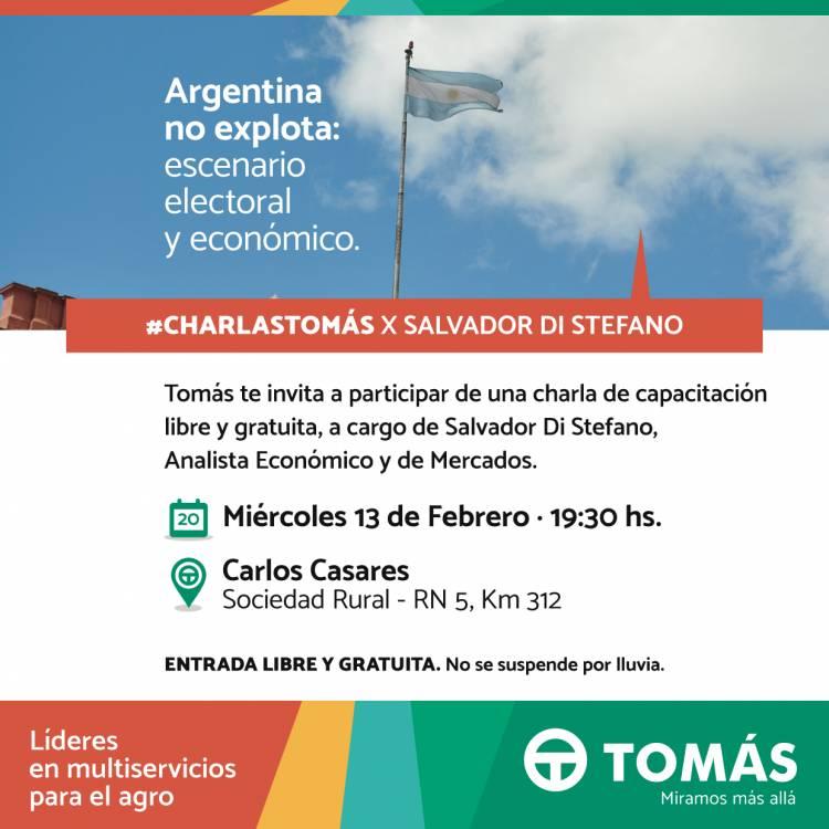 Charla abierta de Salvador Di Stefano en Carlos Casares - Tomás Hnos