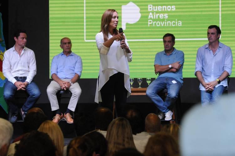 María Eugenia Vidal encabezó una reunión de mesas educativas con cuatro mil docentes, directivos y padres