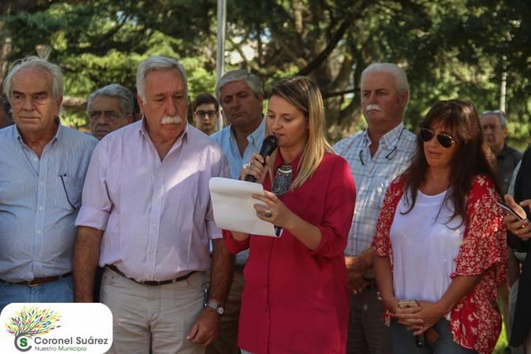 El 'banco rojo' está en Coronel Suárez