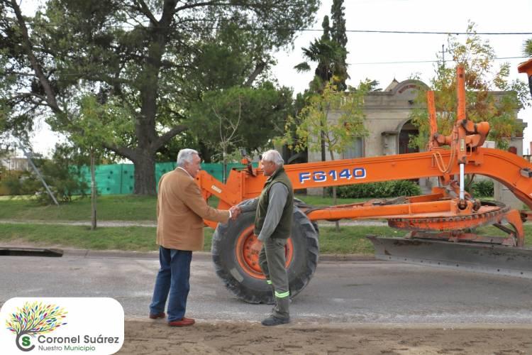 Comenzó la segunda etapa de la repavimentación de la avenida Libertador General San Martín