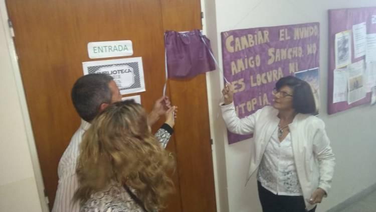 "La Biblioteca del Instituto 48 se llama ""Ana Ángela Cornejo"""