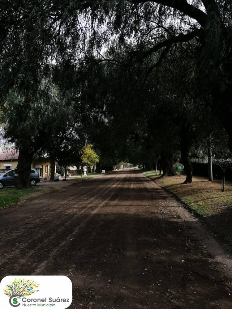 En Villa La Arcadia se realizaron trabajos de relleno y nivelación de calles