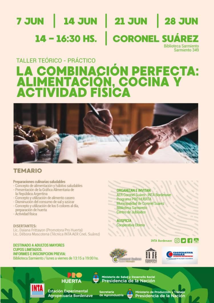 """Taller teórico práctico """"La combinación perfecta: alimentación, cocina y actividad física"""" destinado a adultos mayores"""