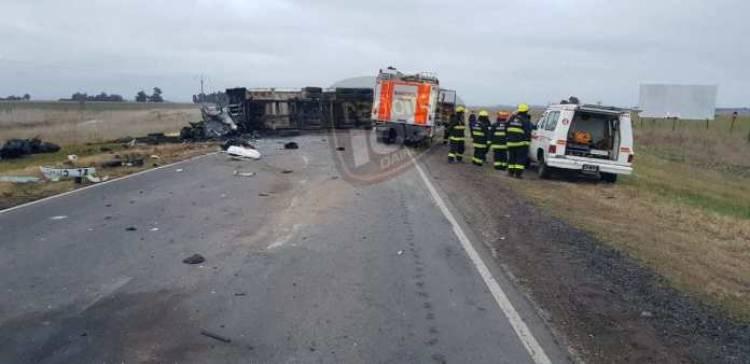 Accidente fatal en la Ruta 33 a la altura de Guaminí
