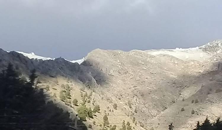 Las imágenes de la nieve ya se pueden apreciar en las sierras