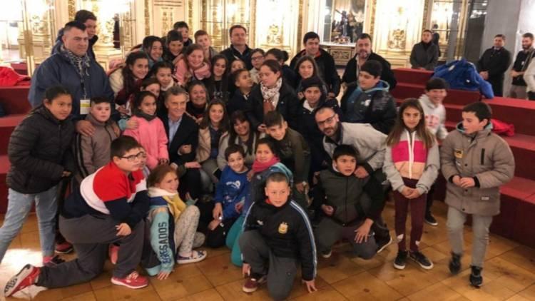 Alumnos de Villa Belgrano fueron recibidos por el Presidente