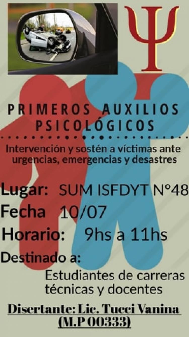 Vanina Tucci brindará una charla sobre primeros auxilios psicológicos