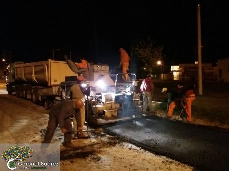 Pavimentación y repavimentación para los vecinos de Huanguelén