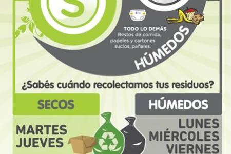 Este martes comienza la recolección diferenciada dentro de las Avenidas: Alsina, Sixto Rodriguez, Conturbi y Casey