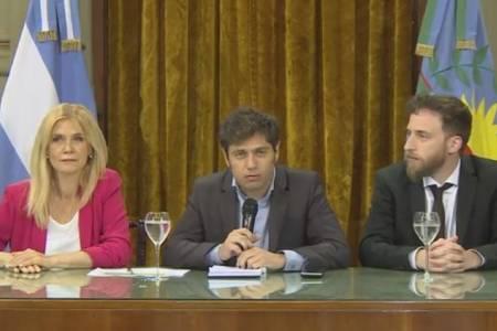 "Kicillof: ""Este gobernador no va a aceptar extorsiones para aprobar leyes"""