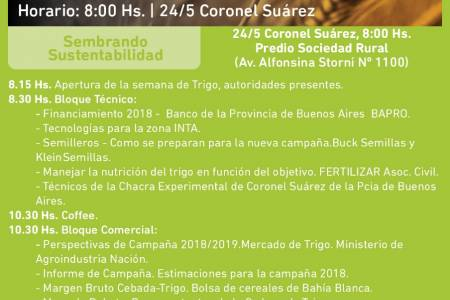 """Coronel Suárez se prepara para una importante jornada: """"Sembrando Sustentabilidad"""""""