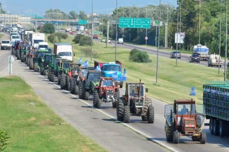 Tractorazo. En Córdoba protestaron contra la suba de las retenciones