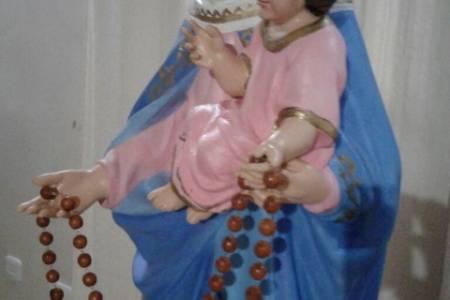 """Misa,  procesión y """"Reentronización de la Virgen del Rosario de San Nicolás"""" de Cura Malal"""