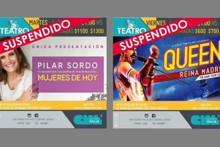 Suspensión de teatro