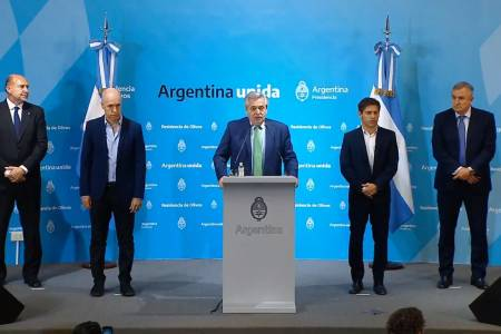 Alberto Fernández declaró la cuarentena total desde esta medianoche y hasta el 31 de marzo