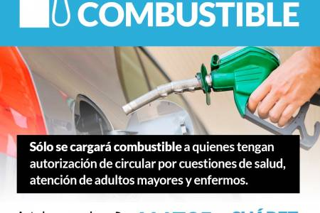 Carga de combustible: sólo para los que tengan autorización de circular