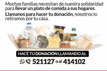 Campaña solidaria de alimentos: todos juntos nos cuidamos, todos juntos ayudamos