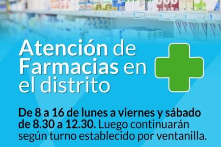 Emergencia Sanitaria: Atención de farmacias en el distrito