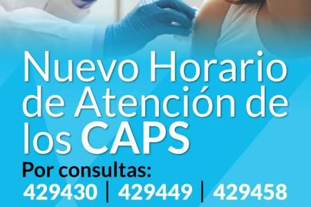 Servicio Social de Salud: horarios de los CAPS del distrito
