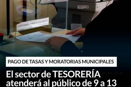 Pago de tasas y moratorias municipales