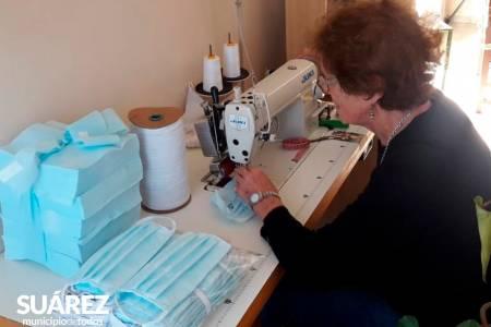 El Municipio de Coronel Suárez fabrica barbijos en el marco de la Emergencia Sanitaria