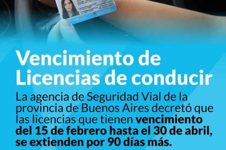 Licencias de conducir: se prorrogan hasta el 30 de abril los vencimientos