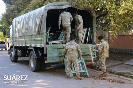 El Ejército Argentino facilitó 20 camas al hospital municipal