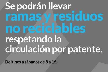 Basurero Municipal: Se podrán llevar ramas y residuos no reciclables respetando la circulación por patente