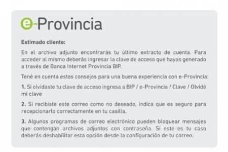 """Banco Provincia salió a aclarar que los supuestos """"mails falsos"""" son verdaderos"""