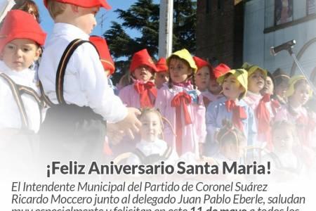 Y una vez más, los vecinos y vecinas de Santa María alzaron sus voces para celebrar un nuevo aniversario de su pueblo.