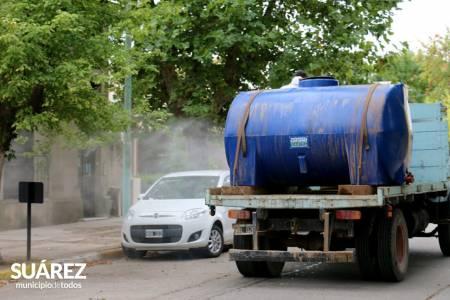 La empresa UNIPAR donó 8 mil litros de cloro al Municipio