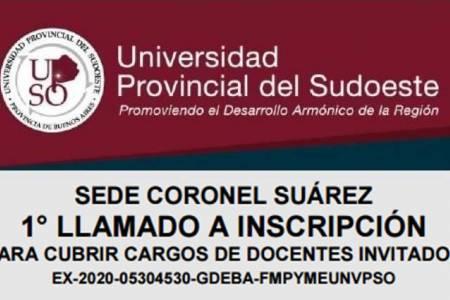 UPSO - 1° llamado a inscripción para cubrir cargos de docentes invitados